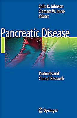 Portada del libro 9780857292384 Pancreatic Disease. Protocols and Clinical Research