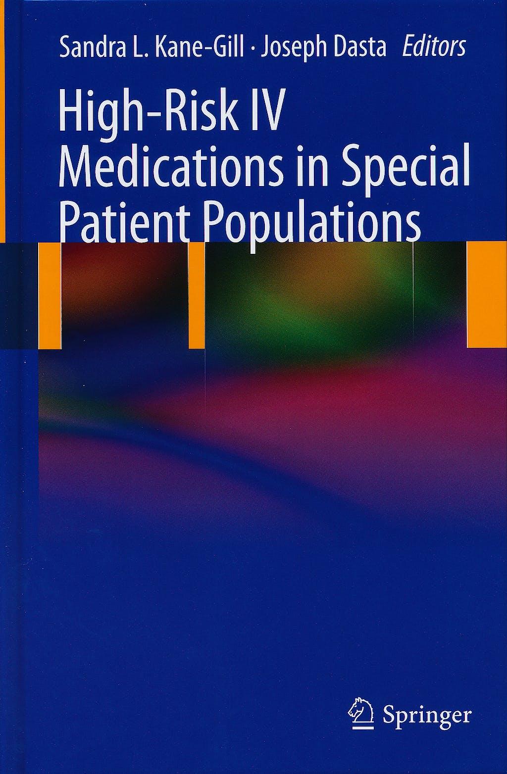 Portada del libro 9780857296054 High-Risk IV Medications in Special Patient Populations