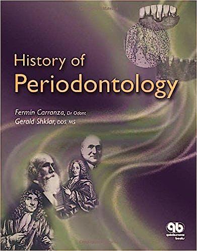 Portada del libro 9780867154245 History of Periodontology