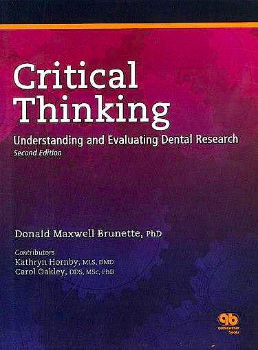 Portada del libro 9780867154269 Critical Thinking: Understanding and Evaluating Dental Research