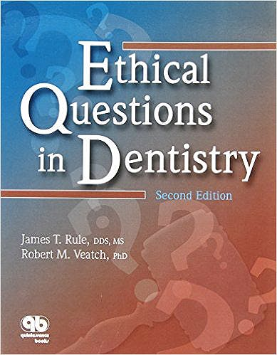 Portada del libro 9780867154436 Ethical Questions in Dentistry