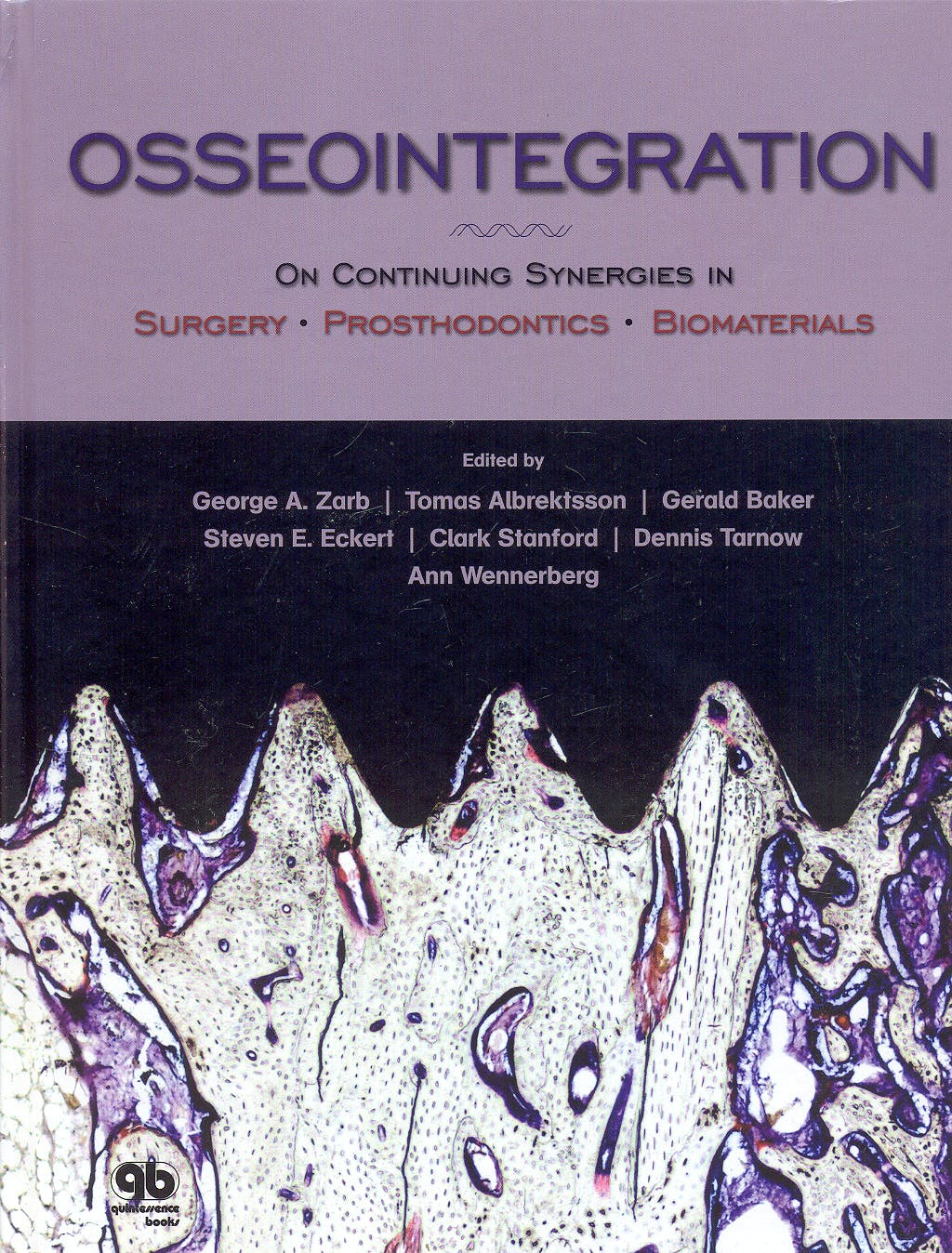 Portada del libro 9780867154795 Osseointegration. On Continuing Synergies in Surgery, Prosthodontics, Biomaterials