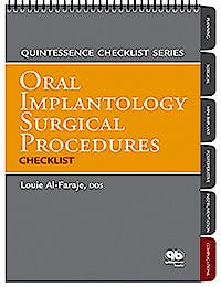 Portada del libro 9780867155709 Oral Implantology Surgical Procedures Checklist