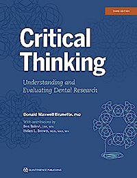 Portada del libro 9780867158007 Critical Thinking. Understanding and Evaluating Dental Research