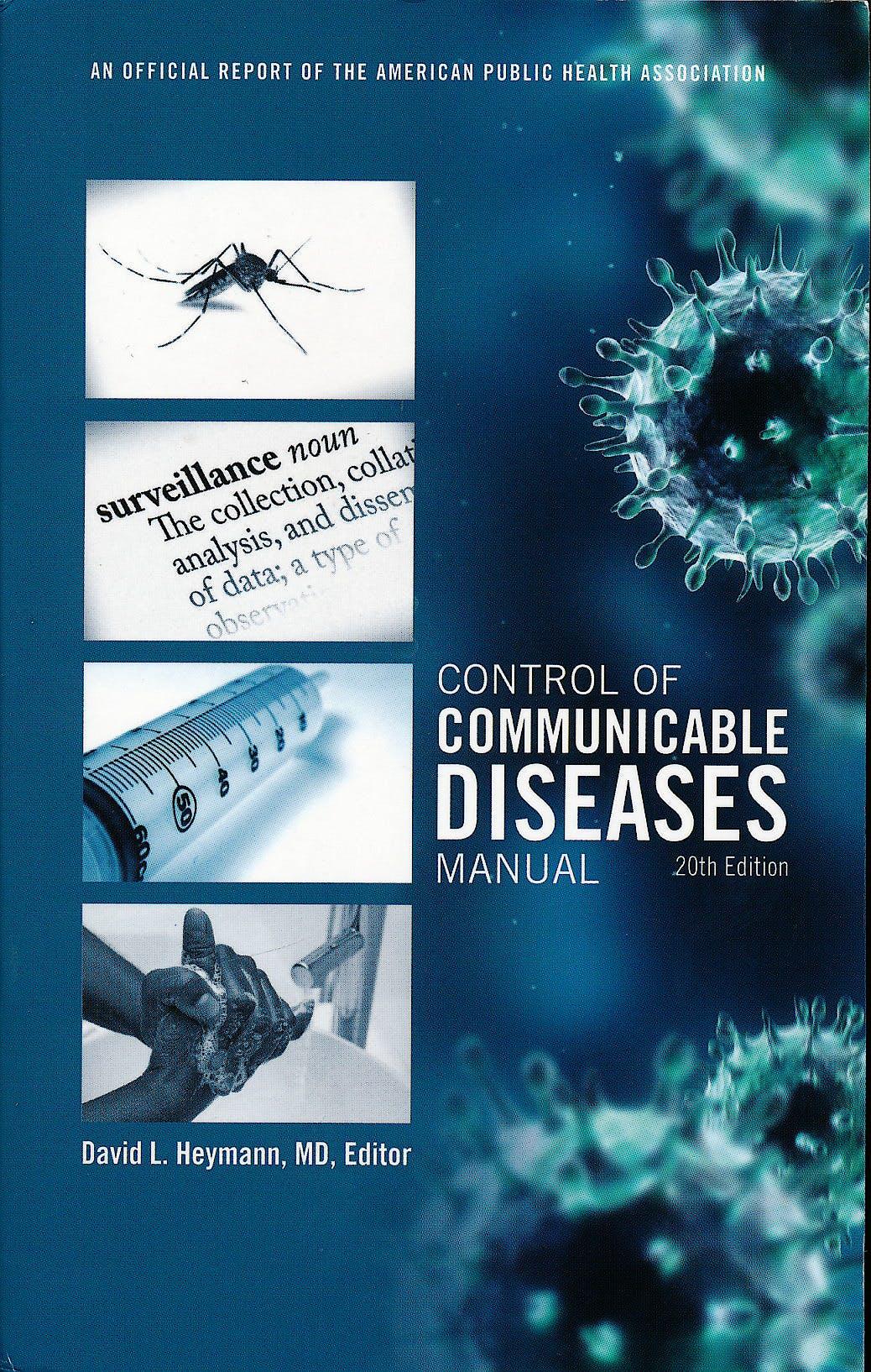 Portada del libro 9780875530185 Control of Communicable Diseases Manual