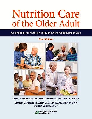 Portada del libro 9780880914888 Nutrition Care of the Older Adult. a Handbook for Nutrition throughout the Continuum of Care