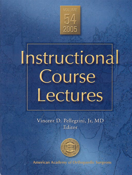 Portada del libro 9780892033454 Instructional Course Lectures, Vol. 54 + DVD