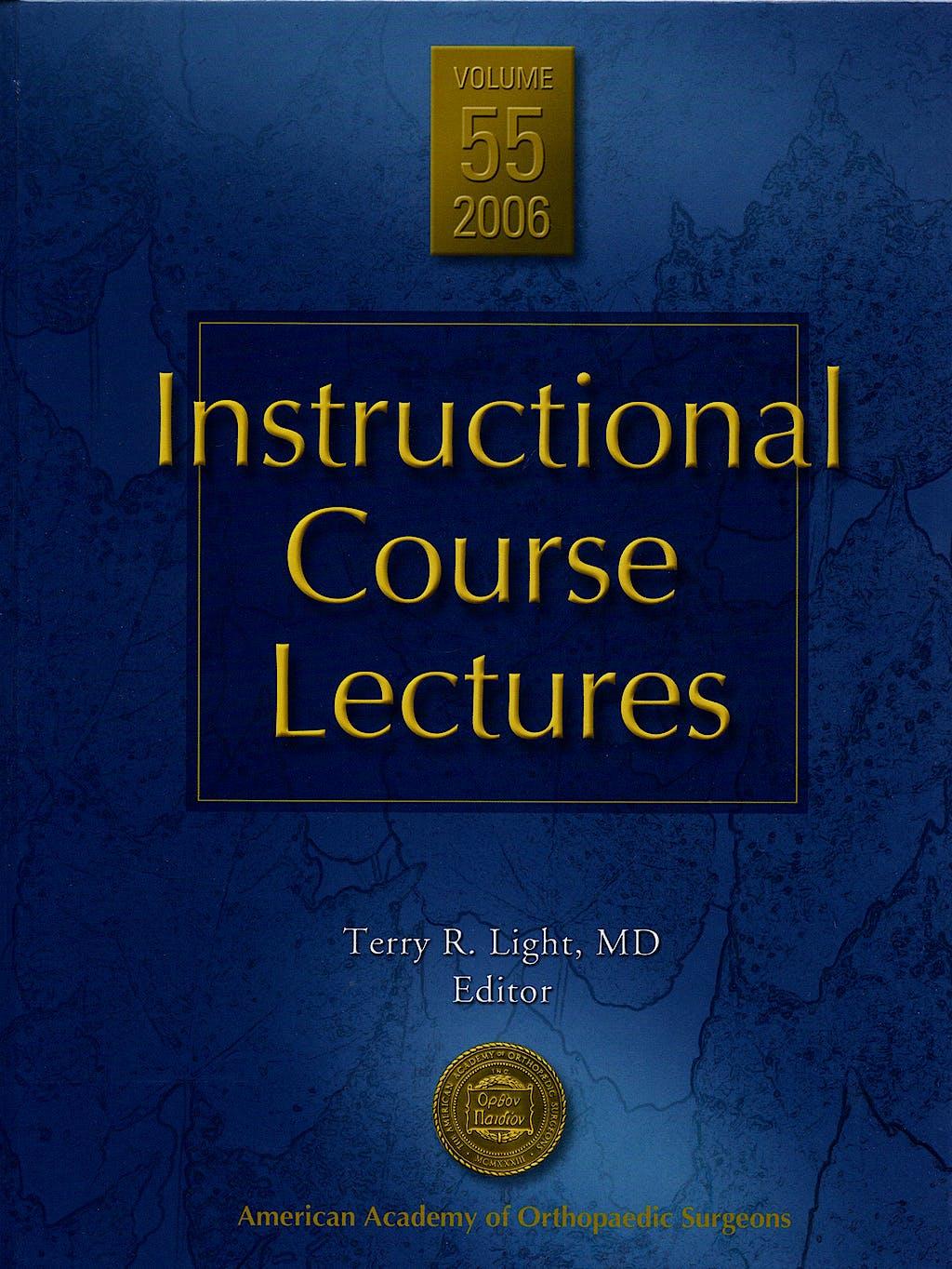 Portada del libro 9780892033560 Instructional Course Lectures, Vol. 55 + DVD