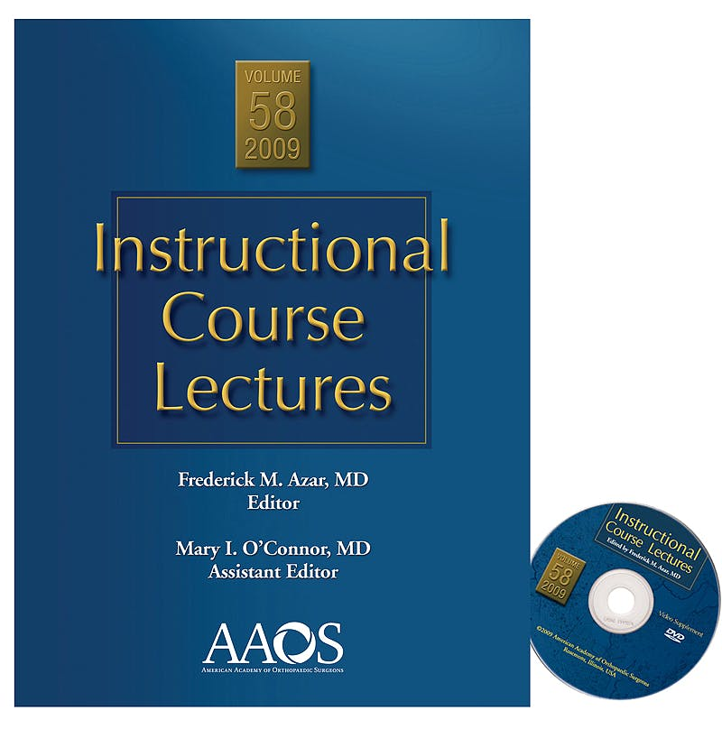 Portada del libro 9780892035915 Instructional Course Lectures, Vol. 58 + DVD