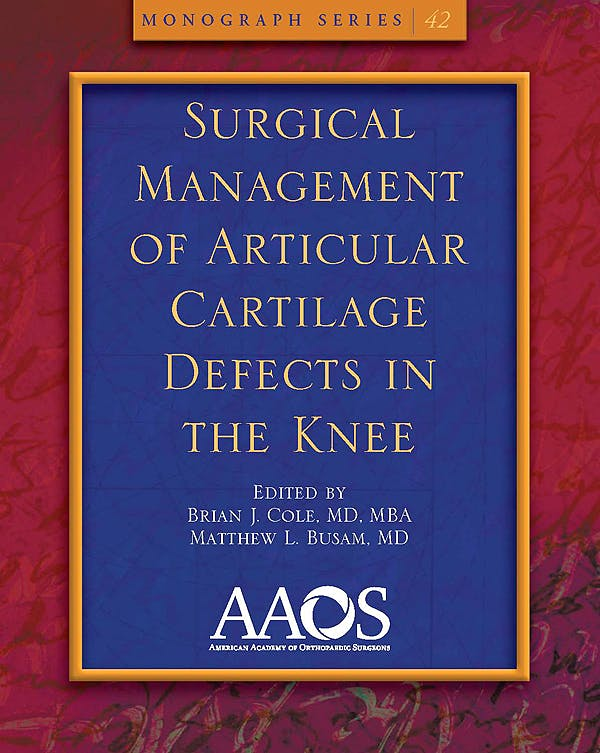 Portada del libro 9780892036004 Surgical Management of Articular Cartilage Defects in the Knee