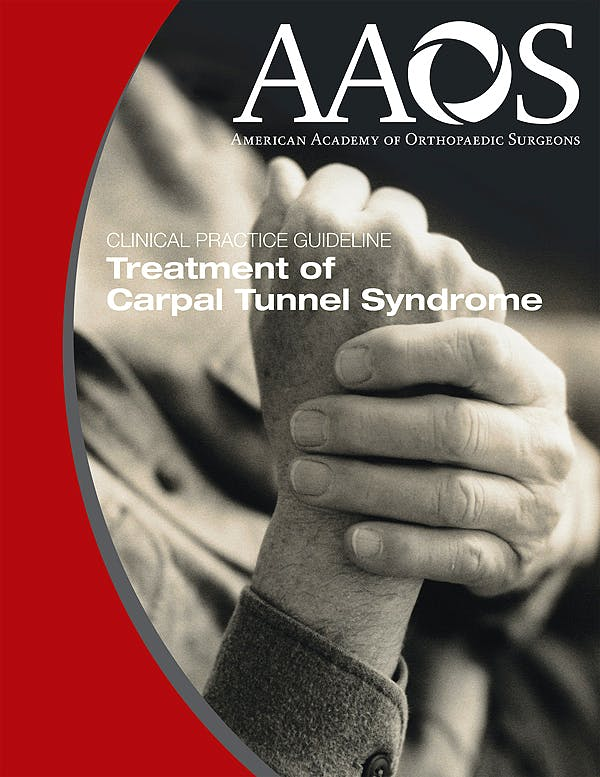 Portada del libro 9780892036370 AAOS Practice Guideline. Treatment of Carpal Tunnel Syndrome