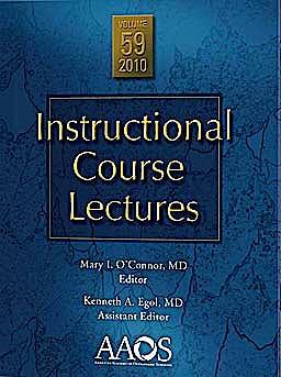 Portada del libro 9780892036448 Instructional Course Lectures, Vol. 59