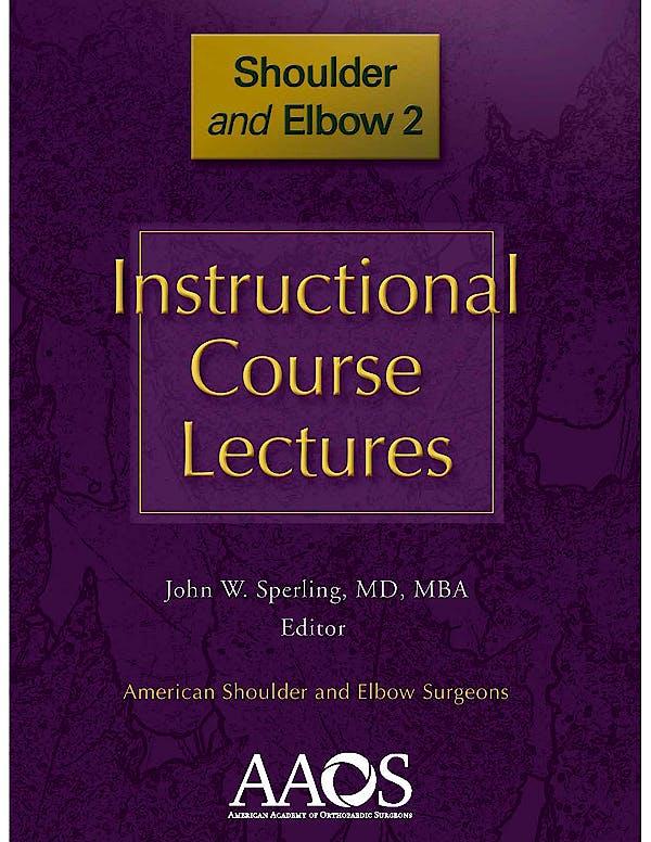 Portada del libro 9780892037476 Instructional Course Lectures. Shoulder and Elbow 2
