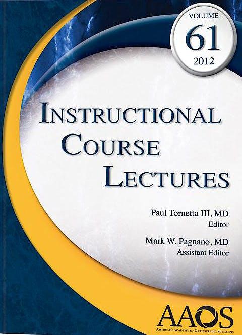 Portada del libro 9780892038466 Instructional Course Lectures, Vol. 61 + DVD