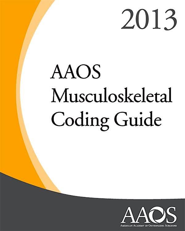 Portada del libro 9780892039647 AAOS Musculoskeletal Coding Guide 2013