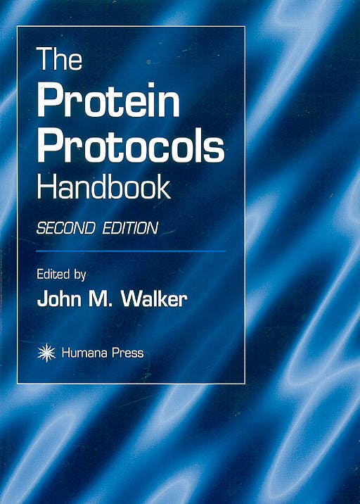 Portada del libro 9780896039414 Protein Protocols Handbook