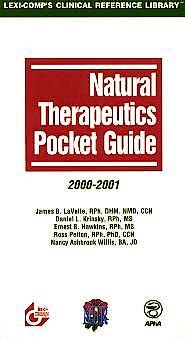 Portada del libro 9780916589806 Natural Therapeutics Pocket Guide 2000-2001