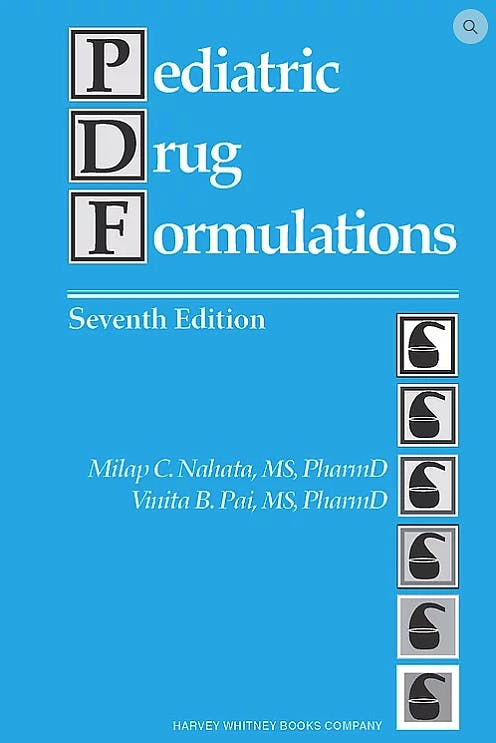 Portada del libro 9780929375120 Pediatric Drug Formulations