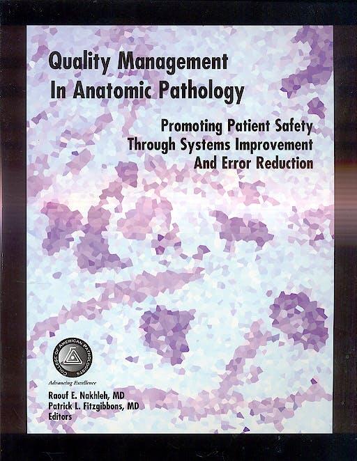 Portada del libro 9780930304867 Quality Management in Anatomic Pathology