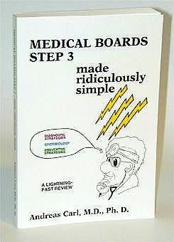 Portada del libro 9780940780378 Medical Boards Step 3. Made Ridiculously Simple