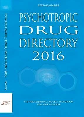 Portada del libro 9780956915634 Psychotropic Drug Directory 2016