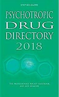 Portada del libro 9780956915641 Psychotropic Drug Directory 2018