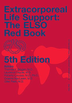 Portada del libro 9780965675659 ECLS Extracorporeal Life Support: The ELSO Red Book