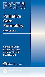 Portada del libro 9780992846749 Palliative Care Formulary (PCF6)