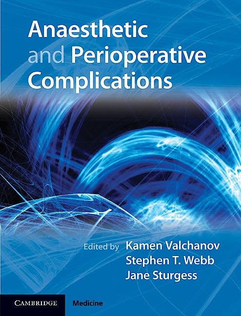 Portada del libro 9781107002593 Anaesthetic and Perioperative Complications