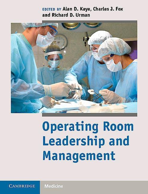 Portada del libro 9781107017535 Operating Room Leadership and Management
