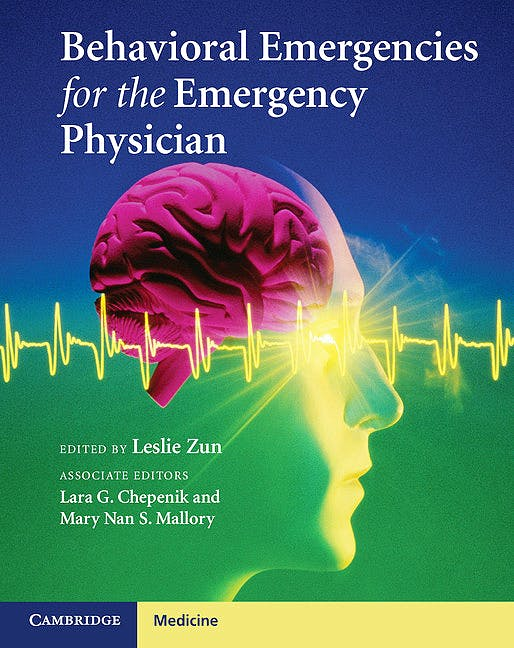 Portada del libro 9781107018488 Behavioral Emergencies for the Emergency Physician