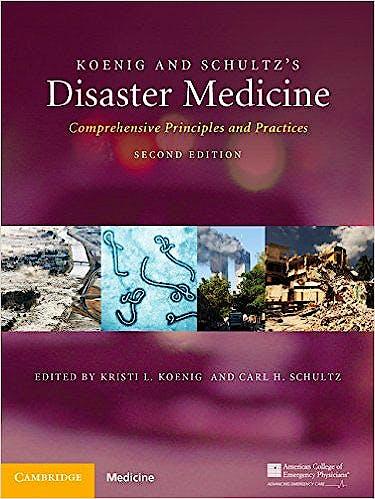Portada del libro 9781107040755 Koenig and Schultz's Disaster Medicine. Comprehensive Principles and Practice