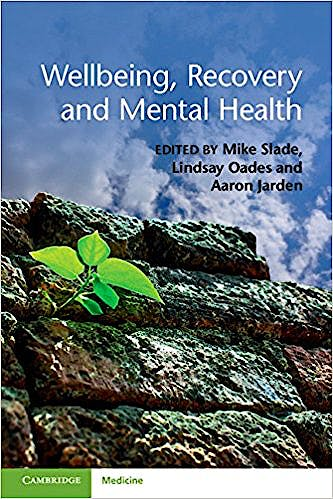 Portada del libro 9781107543058 Wellbeing, Recovery And Mental Health