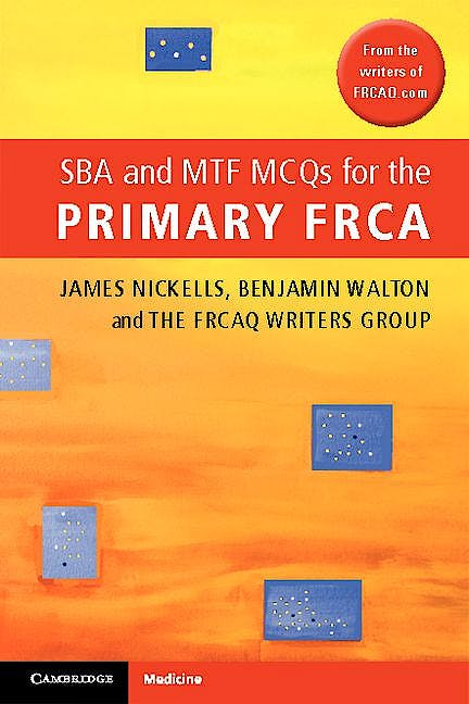Portada del libro 9781107604063 Sba and Mtf Mcqs for the Primary Frca