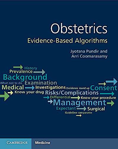 Portada del libro 9781107618930 Obstetrics. Evidence-Based Algorithms