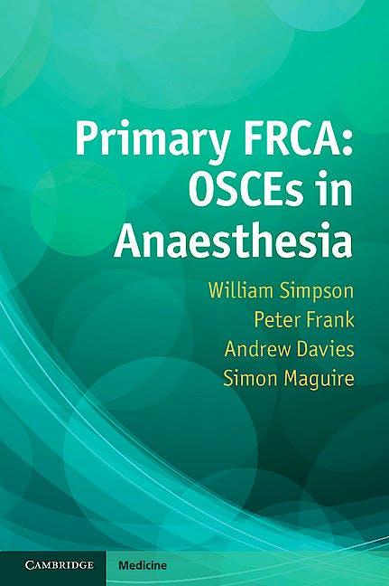 Portada del libro 9781107652231 Primary Frca: Osces in Anaesthesia