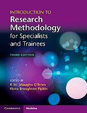 Portada del libro 9781107699472 Introduction to Research Methodology for Specialists and Trainees