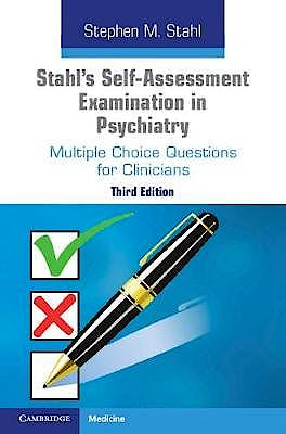 Portada del libro 9781108710022 Stahl's Self-Assessment Examination in Psychiatry. Multiple Choice Questions for Clinicians
