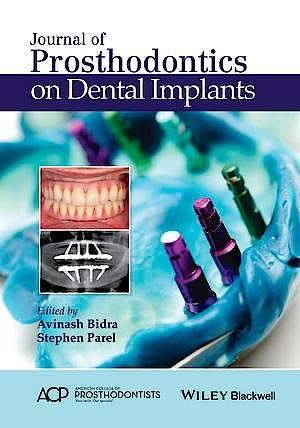 Portada del libro 9781119115366 Journal of Prosthodontics on Dental Implants