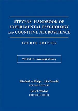 Portada del libro 9781119170013 Stevens' Handbook of Experimental Psychology and Cognitive Neuroscience, Vol. 1: Learning and Memory