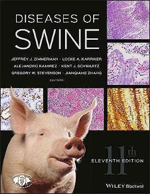 Portada del libro 9781119350859 Diseases of Swine