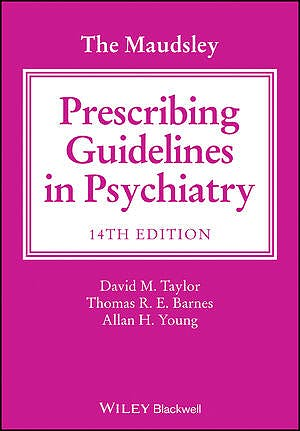 Portada del libro 9781119772224 The Maudsley Prescribing Guidelines in Psychiatry