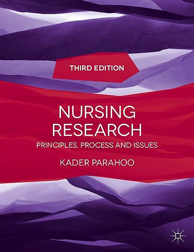 Portada del libro 9781137281265 Nursing Research. Principles, Process and Issues