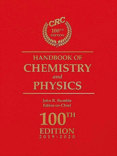 Portada del libro 9781138367296 CRC Handbook of Chemistry and Physics