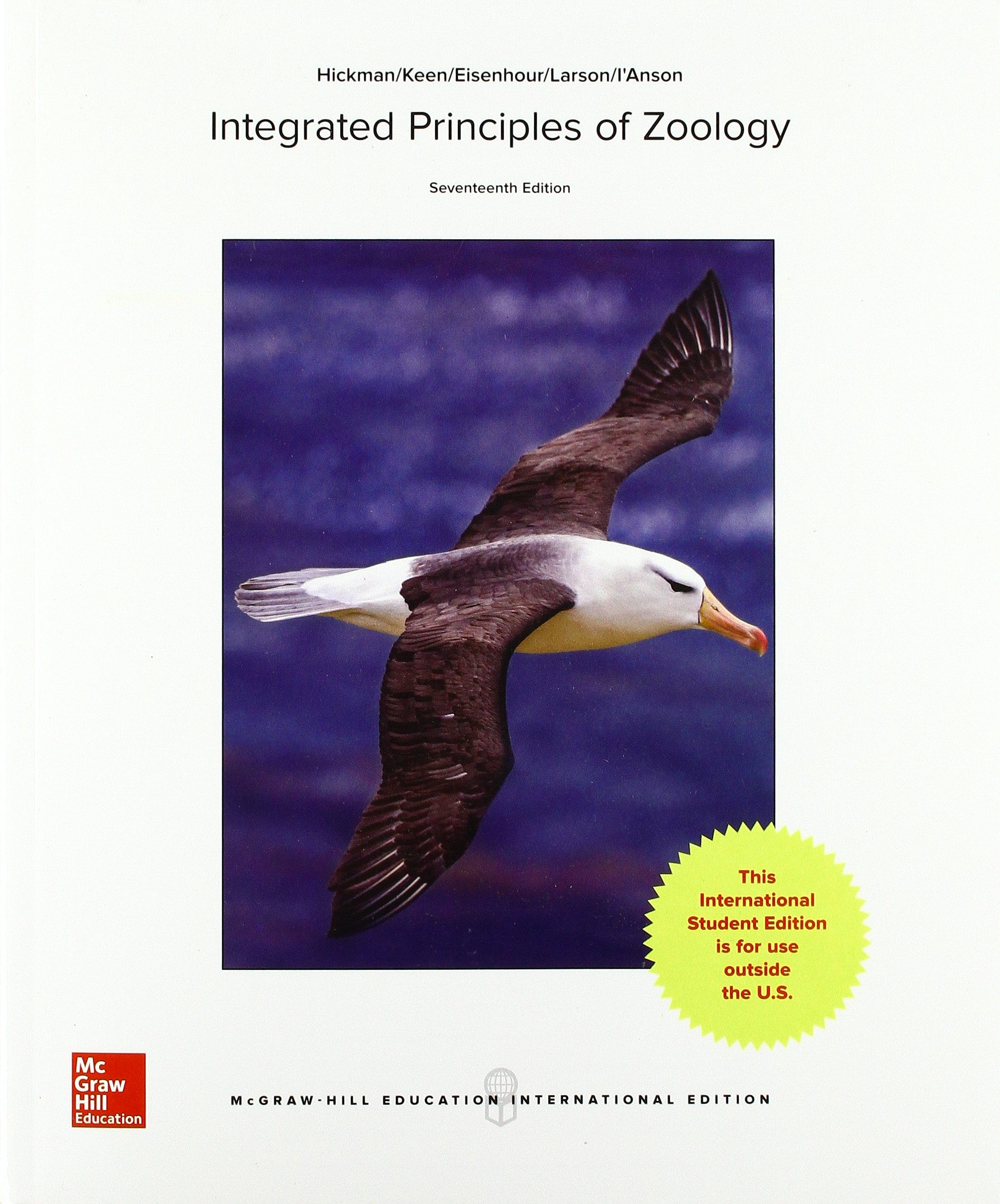 Portada del libro 9781259253492 Integrated Principles of Zoology (International Edition)