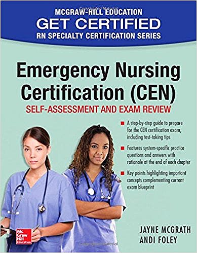 Portada del libro 9781259587146 Emergency Nursing Certification (Cen): Self-Assessment and Exam Review