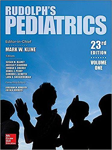 Portada del libro 9781259588594 Rudolph's Pediatrics, 2 Vols.