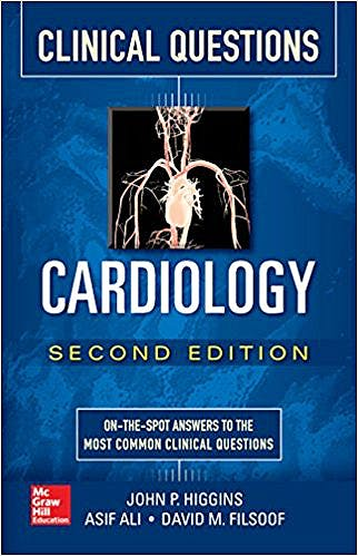 Portada del libro 9781259643330 Cardiology Clinical Questions