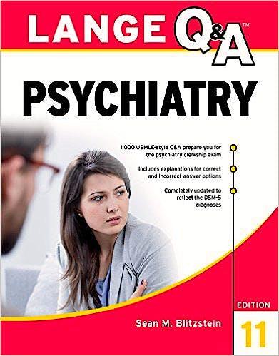 Portada del libro 9781259643941 Lange Q&a Psychiatry