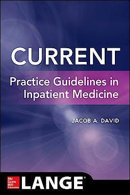 Portada del libro 9781260012224 Current Practice Guidelines in Inpatient Medicine. Lange